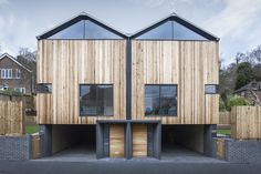 "The Cedar Lodges by Adam Knibb Architects ""Location: Winchester, Winchester, Hampshire, UK"" 2015"