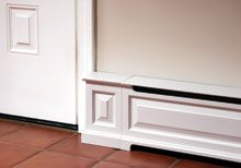 OverBoards aluminum upgrades for baseboard heaters     http://www.go-overboard.com/renovations.php