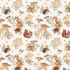 Always in the mood for making repeat patterns. 💛 This one will also be printed on one of my lined notebooks. wiiii I just sent files to… Illustration Inspiration, Pattern Illustration, Watercolor Animals, Watercolor Paintings, Animal Drawings, Cute Drawings, Frühling Wallpaper, Flower Doodles, Woodland Animals