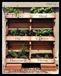 Our Cozy Creative Life: Vertical Herb Garden