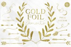 67 Gold Foil Elements by Studio Denmark on @creativemarket