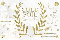 67 Gold Foil Elements by Studio Denmark on Creative Market
