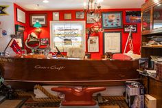 How cool is this?   One of Lake Hopatcong's waterfront homes with a Chris*Craft bar! #lakehopatcong #waterfronthomes
