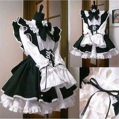 Maid Outfit Cosplay, Maid Outfit Anime, Lolita Cosplay, Anime Dress, Anime Outfits, Anime Maid, Anime Skirts, Anime Cosplay, Costume Dress