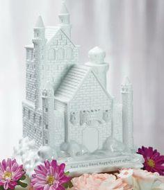 Fairytale Dreams Castle Wedding Cake Topper http://discountweddingcaketoppers.com/fairytale-dreams-wedding-cake-topper.html