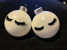 Items similar to Lash Ornaments on Etsy Personalized Christmas Ornaments, Diy Christmas Ornaments, Diy Christmas Gifts, Christmas Crafts, Christmas Bulbs, Christmas Salon, Christmas Gifts For Couples, Candy Christmas Decorations, Christen