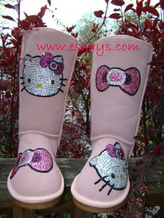 #RhinestoneBoots #thighhigh #boots #customizedboots #customboots #ABrhinestones #clearrhinestones #crystals #rhinestones #thighboots #customize #custom #taylormade #coolshoes #diva #divaboots #winterboots #snowboots #midlength #pinkhellokitty #hellokitty #pinkwinterboots #uggboots