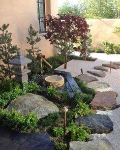 Japanese Garden Backyard, Japanese Garden Landscape, Small Japanese Garden, Japanese Garden Design, Japanese Patio Ideas, Japenese Garden, Japan Garden, Zen Sand, California Garden
