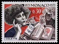 Monaco postage stamp - Colette