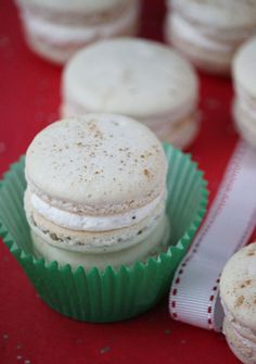 Candy Cane Macarons | recipes | Pinterest | Canes, Candy and Seasons