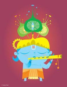 Krishna vaatar by Sanjay Patel