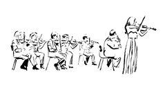 Ce soir je suis allé écouter l'orchestre d'Orléans jouer Beethoven. D'habitude je n'aime pas tellement dessiner pendant un concert de musiqu...