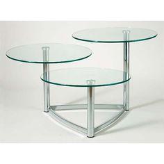 """Cascade Swivel Glass Table 20"""" each for living room"""
