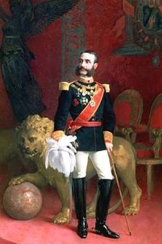 Alfonso XII was king of Spain reigning from 1875 to after a coup d'état restored the monarchy and ended the ephemeral First Spanish Republic.