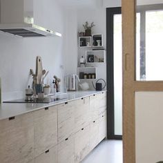 Another amazing IKEA hack with custom wood fronts. Stunning kitchen before and after by @ilariafatone. See more on RM today. #rmkitchens #ilariafatone #ikeahack #kitchendesign