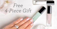 Love the half moon nail design here! Reverse French Manicure, Bridal Beauty, Beauty Box, Wedding Decorations, Nail Designs, Nail Polish, Nails, Gifts, Moon