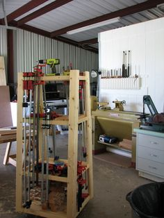 Rolling Clamp Rack Work Station