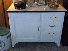 Vintage French enamel topped bathroom cabinet. | inspiration ...