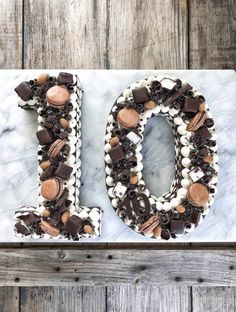 How to make a Chocolate Icebox Number Cake - Simple Bites Cake Cookies, Cupcake Cakes, Cupcakes, Chess Cake, Buffet Dessert, Sweetened Whipped Cream, Chocolate Wafers, Number Cakes, Icebox Cake