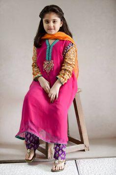 Pakistani Dress Designs for Girls - Maria B. Kids Collection 2014 www.latestasianfashions.com/pakistani-dress-designs-girls-maria-b-kids-collection-2014/