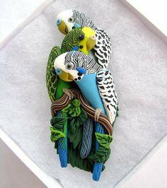 Birdy Pin by ALICIA MERRITT | Polymer Clay Planet