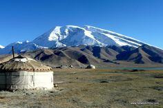 uyghur village near the heavenly lake, xinjiang