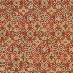 The G6568 Copper upholstery fabric by KOVI Fabrics features Geometric, Medallion, Southwest, Tapestry pattern and Red as its colors. It is a Jacquard, Made in USA type of upholstery fabric and it is made of 51% Polyester, 49% Acrylic material. It is rated Exceeds 12,500 double rubs (heavy duty) which makes this upholstery fabric ideal for residential, commercial and hospitality upholstery projects. This upholstery fabric is 54 inches wide and is sold by the yard in 0.25 yard increments or by…