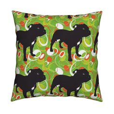 Funky Stafford Square Pillow by floramoon_designs   Roostery Home Decor