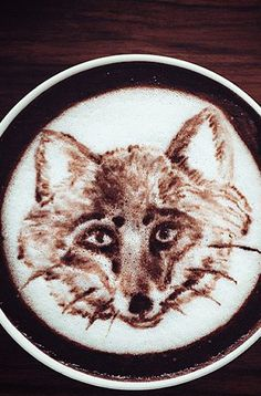 Fox Latte Art