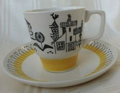 Stavangerflint Norway Vintage Cup Saucer Fisherman Village Scene | eBay Norwegian Food, Stavanger, Vintage Cups, The Dish, Scandinavian Style, Ceramic Pottery, Cup And Saucer, Iceland, Norway