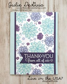 www.thewaywestamp.com Oh So Succulent by Stampin' Up! for Global Design Project 076 #GDP076 #ohsosucculent #stampinup #onebigmeaning #diycrafts #handmadecards #thewaywestamp #juliedeguia