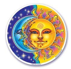 "Mandala Arts Window Sticker ""Reflections"" Sun & Moon Mandala Arts http://www.amazon.com/dp/B006960HKW/ref=cm_sw_r_pi_dp_rPZNwb0VMDC19"