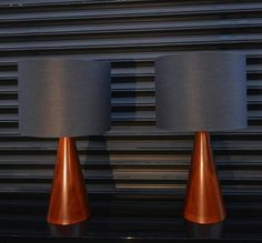 Pedro Ramirez Vazquez Pair of Table Lamps | From a unique collection of antique and modern table lamps at https://www.1stdibs.com/furniture/lighting/table-lamps/