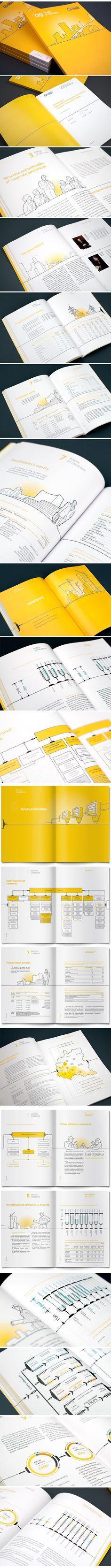 Annual report IDGC of Volga by Andrew Gorkovenko, via Behance