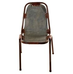 Laight Industrial Loft Denim Leather Dining Chairs