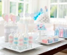 Pretty pastel gender reveal.