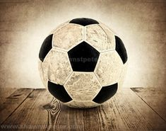 Vintage Soccer Ball on Wood Photo Print, Boys Room, Wall Decor, Wall Art,  Man Cave,Boys Nursery Ideas, Gift Ideas, via Etsy