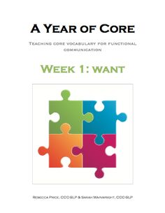 FREE**The first book in our Year of Core word of the week program to directly teach high-frequency words for functional communication. Use books on their own or with the leveled core boards (free download). The books are in 4 levels using only previously taught words in each book. Each book bundle includes a book, classroom …