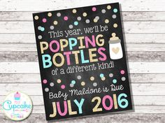New Year's Pregnancy Announcement We'll Be by MyLilCupcakeCo