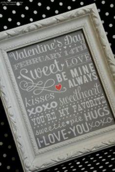 Valentine's Day decor frame printable graphic art