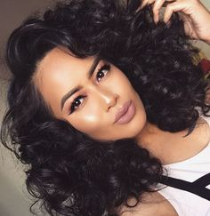 Human Hair Wigs Brazilian Malaysian Indian Remy Curly Human Hair Full Lace Wig Virgin Hair Lace Front Loose Wave Wigs For Black Women Remy Human Hair, Human Hair Extensions, Human Hair Wigs, Big Chop, Hair Colorful, Curly Hair Styles, Natural Hair Styles, Loose Waves Hair, Blond