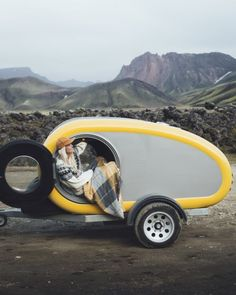 Rent a Mink Camper in Iceland, Norway, Romania and Scotland. The Mink Sports Camper has panorama viewing roof, open-air kitchen and sleeps two adults and a child. Mini Caravan, Mini Camper, Camping Style, Teardrop Trailer, Camper Trailers, Motorhome, Mink, Trip Planning, Photo S