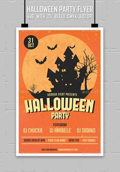 Halloween Party Chalk Flyer  Psd Templates Halloween Parties And