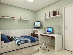 Resultado de imagem para quarto solteiro apartamento decorado