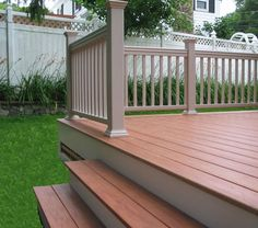 Best Evergrain Redwood Deck And Skirt Boards With Cedar Painted 640 x 480
