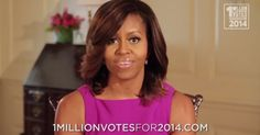 YES! Michelle Launches '1 Million Votes for 2014' Every Vote Counts!