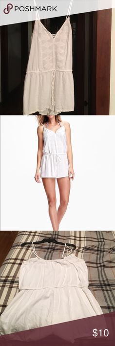 White romper White, linen romper. Purchased from Old Navy. Never worn due to ordering the wrong size. Would be a great swimsuit cover up or paired with a jean jacket and wedges. Old Navy Other