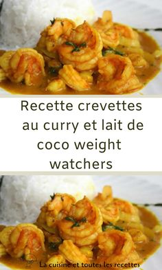 Weight watchers curry shrimp and coconut milk recipe Diet Salad Recipes, Easy Smoothie Recipes, Good Healthy Recipes, Healthy Snacks, Healthy Eating, Plats Weight Watchers, Weight Watchers Meals, Coconut Milk Recipes, Curry Shrimp