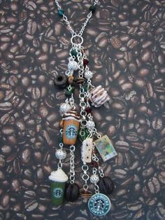Starbucks Coffee Charm Necklace by sweettreatsjewelry on Etsy, $54.99....I can make that way cheaper!