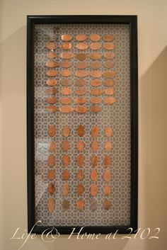 Souvenir penny display - must do this!!!! Thanks @Erin Kelly !
